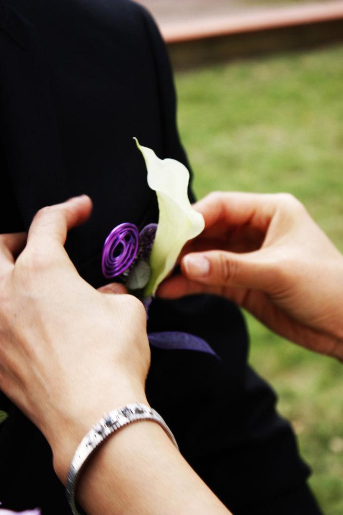 Boutonnière de marié
