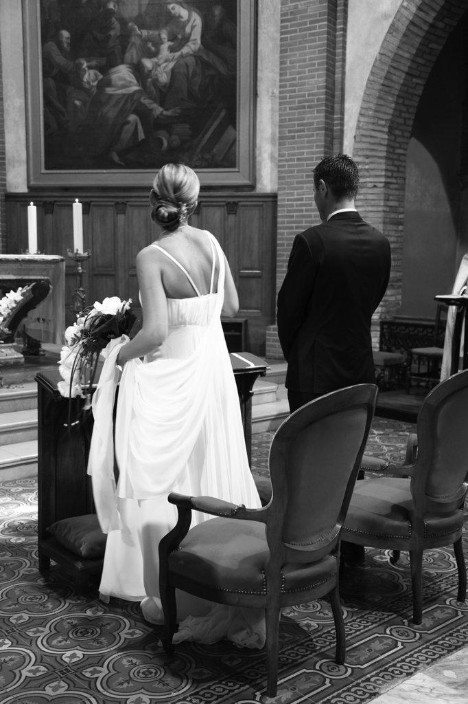 Mariés à l'eglise